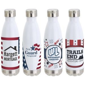 17 Oz. Keep Americana Stainless Steel Bottle w/Stock Art