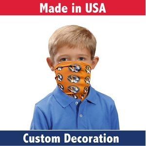Fabric Youth Face Guard- Custom Full-Color Printed Mask-Sewn In USA