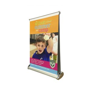 Double-Mini Table Top Retractable Banner