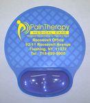 Custom BRIGHT Gel Wrist Rest Mouse Pad - Blue