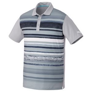 Custom M-PUMA Washed Stripe Polo PC