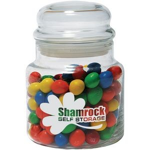 16 Oz. Glass Candy Jar with Bubble Top Lid
