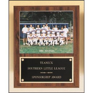Plaque with Slidein Photo or Certificate Holder 12x15