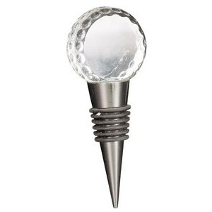"4"" Crystal Golf Ball Wine Stopper"