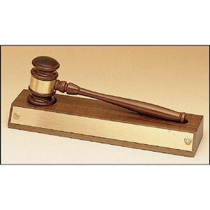 Custom Removable Gavel on an Walnut Base. 3
