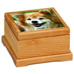 Custom 5 x 5 Red Alder Pet Urn with Routed Top