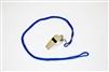 Custom Silver Metal Whistle w/ Lanyard