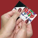 Custom Peel & Stick Magnetic Business Card - 20mil
