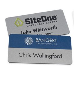 Magnetic Name Badges- 1.5 X 3 (Silver)