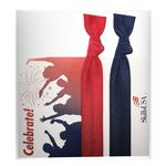 Custom Two Solid Color Hair Ties on Custom Printed Card/Cello - 2 pack