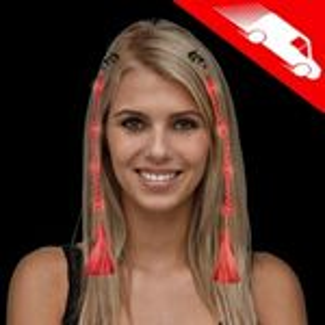 Custom LED Fiber Optic Hair Clip Red