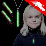 Custom Glow Hair Pins And Pendant Necklace Set Green