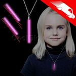 Custom Glow Hair Pins And Pendant Necklace Set Pink