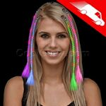 Custom LED Braided Hair Extensions Assorted
