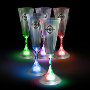 Coolglow light up drinkware led champagne flute 7 5 oz led drichm m ideastage promotional - Flute a champagne led ...