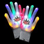 Custom CoolGlow Light Up LED Gloves - Rainbow