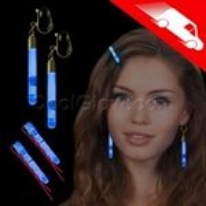 Custom Glow Hair Pins And Earrings Set Blue