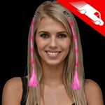 Custom LED Braided Hair Extensions Pink
