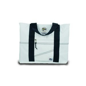 Large Tote Bag - White/Blue