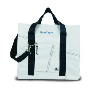 X-Large Tote Bag - White/Blue