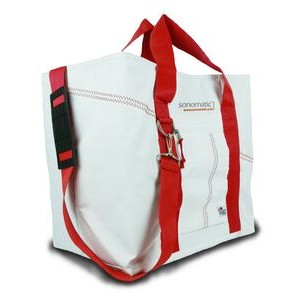 X-Large Tote Bag - White/Red