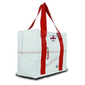 Large Tote Bag - White/Red