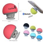Custom Mushroom Portable Bluetooth Wireless Speaker Music Player with Suction Cup Built-in Mic Hands-free