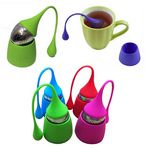 Custom Drip Silicone Handle Tea Infuser Tea Strainer