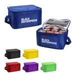 Custom Insulated 6 Pack Polyester Lunch Cooler Bag