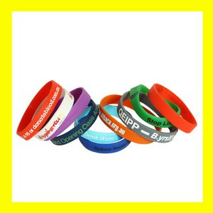 Value Custom Screen Printed Silicone Wristband