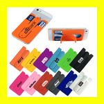 Custom Silicone Smart Mobile Travel Wallet w/Stand - OVERSEAS
