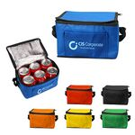 Custom Insulated 6 Pack Non Woven Lunch Cooler Bag