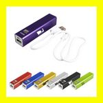 Custom Portable USB Flash Cell Phone Travel Power Bank Charger in Aluminum Case