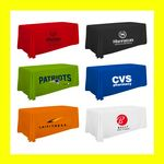 Custom 8 Foot / 96 Inch Thermal Full Color Trade Show Table Throw - Best Price!!!