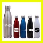 Custom 17 Oz Assana Stainless Vacuum Sealed Water Bottle