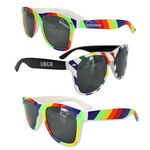 Custom Rainbow Print Sunglasses