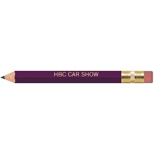 Purple Hexagon Golf Pencils with Erasers