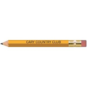 Yellow Hexagon Golf Pencils with Erasers