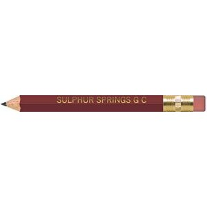 Maroon Hexagon Golf Pencils with Erasers