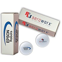 Logo Golf Balls in Logo 3 Ball Box Set