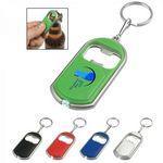 Custom LED bottle opener keychain