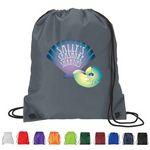 Custom Full color 210D Polyester Drawstring Backpack