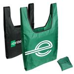 Custom Foldable Jersey Grocery Tote Bag w/ Inner Pouch
