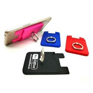 Silicone Smart Phone Wallet w/ Ring