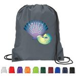 Custom Full color 210D Polyester Drawstring Backpack