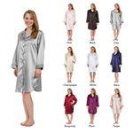 Custom Women's Stretch Silky Satin Nightshirt, Nightgown, Sleepwear