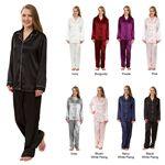 Custom Women's Stretch Satin Pajama Sets, Sleepwear, Lounge Wear