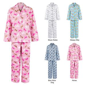 Custom Women's Flannel Print Pajama Sets, Sleepwear