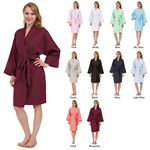Custom Cotton Oxford Cloth Knee-Length Kimono Robe