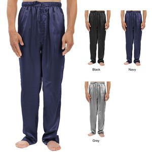 Custom Men's Stretch Silky Satin Pajama Pants, Sleepwear